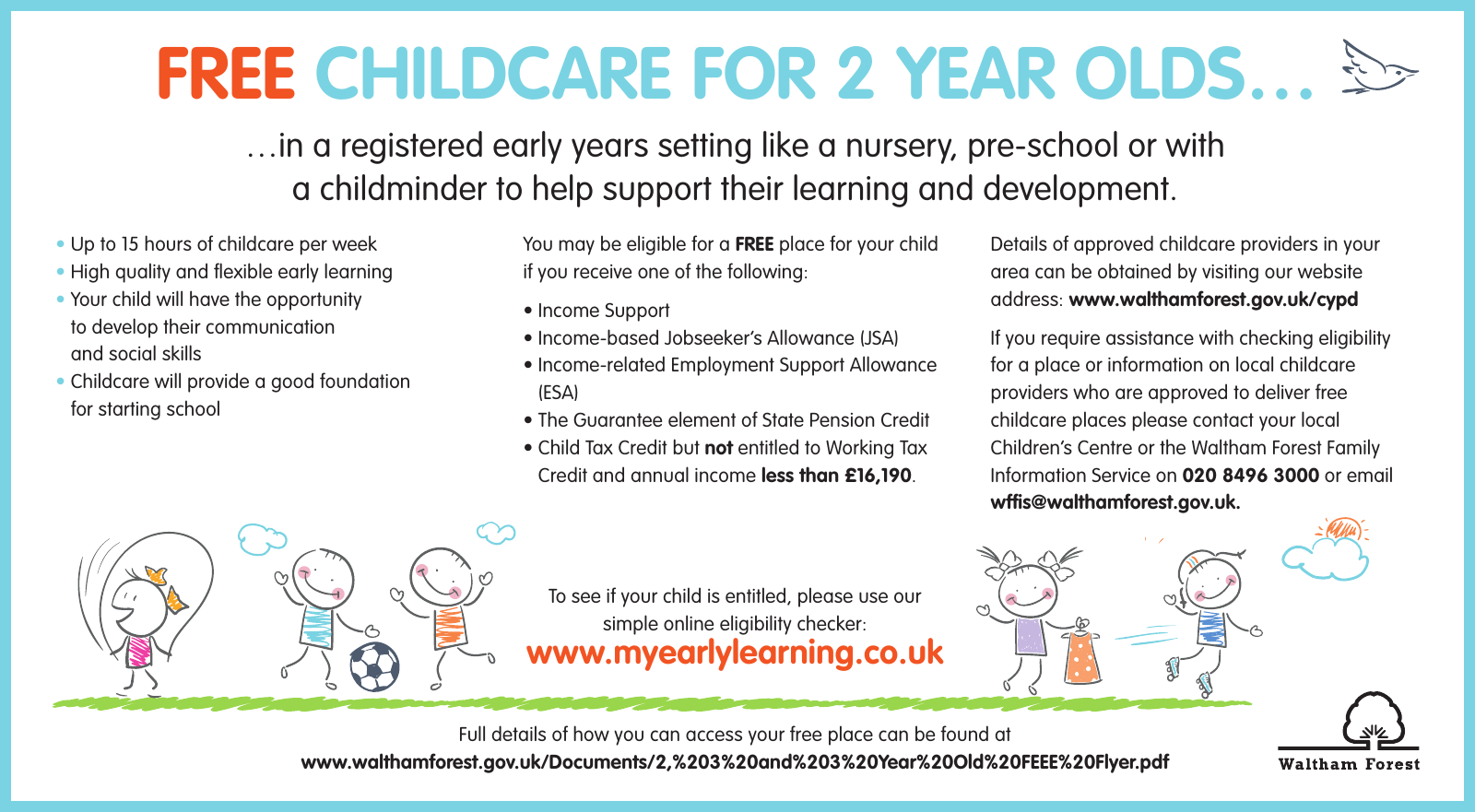 Free Childcare Places For 2 Year Olds